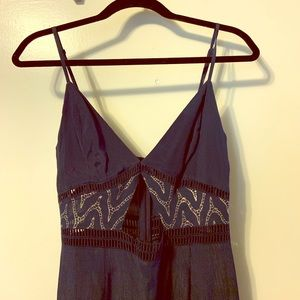NWT Dark Blue Below the Knee Dress